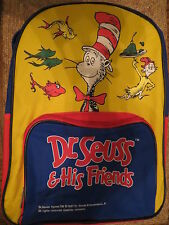Dr. Seuss & His Friends 1997 Backpack AND 9 Dr. Seuss Books