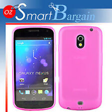 NEW PINK Soft Gel TPU Cover Case For Samsung GALAXY Nexus + Screen Protector