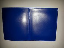 Cartera de PVC/Soporte documentos en azul (cada página puede sostener un artículo hasta 112mm X 90mm