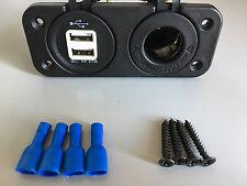 12V 3.1A LED Dual USB Car Charger Cigarette Lighter Adapter Auto Boat Motor UK