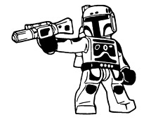 Decal Vinyl Truck Car Sticker - Star Wars Lego Boba Fett