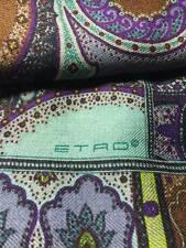 """New WORK OF ART ETRO cashmere silk SCARF, calcutta, 45x140cm, 55""""x17"""" multicolor"""