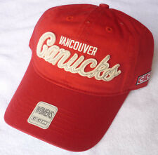 VANCOUVER CANUCKS WOMENS CCM ALL RED SLOUCH UNSTRUCTURED STRAPBACK CAP HAT NWT!
