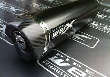 Aprilia RSV 1000 Mille 1998-2003 Black Tri Oval, Carbon Outlet, Exhaust Can