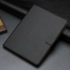 For Apple iPad 2 3 4 Black Luxury Genuine Leather Smart Flip Wallet Case Cover