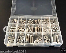 "1/4"" 5/16"" 3/8"" & 1/2"" UNC NUTS AND BOLTS WASHERS A2 Stainless Assortment kit"