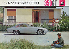 Lamborghini 350 GT 1964-67 UK Market Multilingual Foldout Sales Brochure