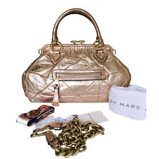 MARC JACOBS BLUSH METALLIC LEATHER STAM BAG - GORGEOUS