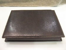 Vintage OMAS PINEIDER Brown LEATHER Address Book ORGANIZER Writing pad Gold Leaf