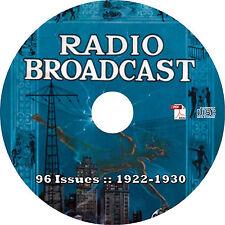 Radio Broadcast Magazine {96 Issues, 1922-1930} on CD