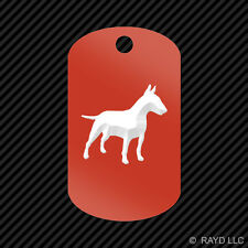Bull Terrier Keychain GI dog tag engraved many colors  dog canine pet