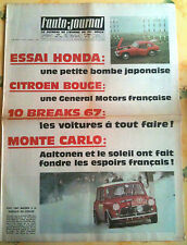 L'AUTO-JOURNAL n°421 du 02/1967; Essai Honda/ 10 Break / Monte Carlo