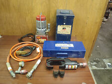 SOMERSET UT10-A1 HYDRAULIC PUMP & HUSKIE EP-610HN HYDRAULIC CRIMPER W/DIE,CASES