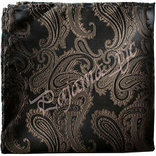 Paisley Handkerchief Only Pocket Square Hanky BROWN Wedding Party