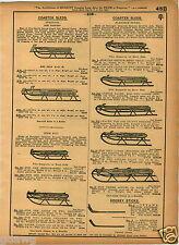 1921 PAPER AD Flexible Flyer King Koaster Sled Fire Fly Hockey Sticks Ottawa