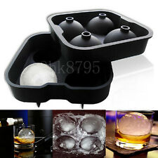 DIY 4 Cup Glass Shape Ice Cube Ball Maker Mold Sphere Mould Drink Party Ice Tray