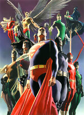 ALEX ROSS rare JUSTICE LEAGUE Secret Origins NEW giclee CANVAS Signed with COA