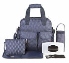 New Allis Baby Luxury Changing Bag Nappy Diaper Backpack Large Size 7PCs - Navy