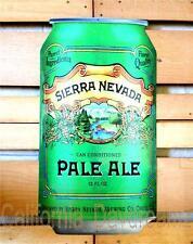 SIERRA NEVADA PALE ALE BEER TIN WALL SIGN 12x22 METAL TACKER CHICO CALIFORNIA