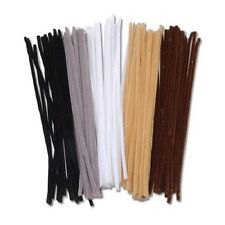 6 mm Pipe Cleaners Chenille Stems 100 Piece Pack - Assorted Animal Colors