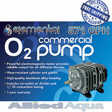 Elemental O2 Commercial Air Pump, 571 gph - Aquarium Hydroponics Aquaponics Pond