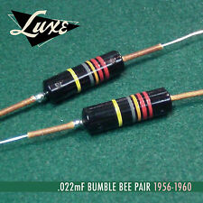 Luxe Bumble Bee Pair .022uF Oil-Filled Vintage Spec