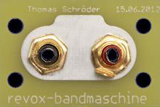 Abstandserweiterung der Cinchbuchsen für alle Revox A76 Tuner von revox-online