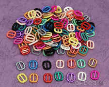 14 Colours total 140pcs Pearl Buckle Ribbon Sliders - Scrap Book Material (S09)