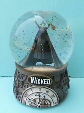 Vtg 2003 Wicked Defy Gravity Glitter Snow Globe Theater Musical Araca Exclusives