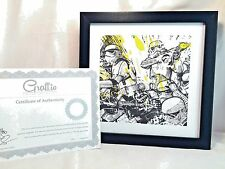 Graff.io Framed Art Display COA LE 500 Star Wars Canvas Storm Troopers 10x10""