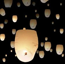 20 White Chinese Paper Sky Flying Wishing Lantern Lamp Candle Party Wedding Wish
