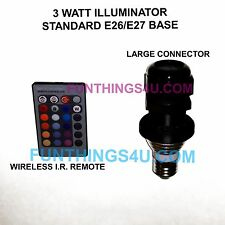 3 Watt LED Fiber Optical RGB illuminator Light Source & Remote  & Hemma Cord