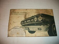 1965 RAMBLER CLASSIC ORIGINAL OWNERS MANUAL SERVICE GUIDE BOOK 65