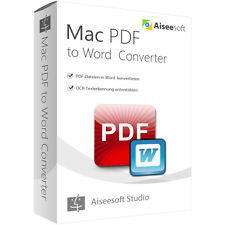 PDF to Word Converter MAC Aiseesoft dt.Vollversion Lebenslanger Lizenz Download
