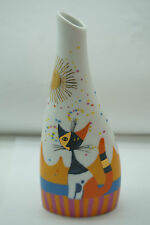 ROSINA WACHTMEISTER VASE CAT HAPPY FAMILY LIFE GOEBEL PORCELAIN SIGNED KITTENS