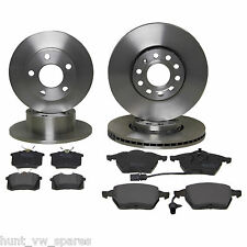 JURATEK Quality Front & Rear Brake Discs & Pads 256MM /232MM - vag119/118