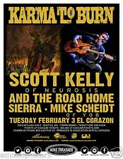 KARMA TO BURN / SCOTT KELLY (NEUROSIS) 2015 SEATTLE CONCERT TOUR POSTER