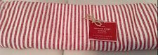 Pottery Barn Wheaton Stripe Table Runner NWT! 18x108 NWT! Red Linen Cotton