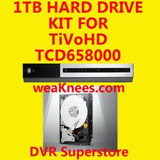 1TB TIVO HARD DRIVE UPGRADE/REPAIR KIT FOR TCD658000 TiVoHD XL. 6-MO WARRANTY