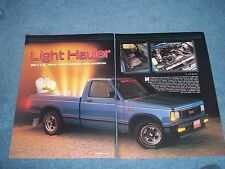 "1989 GMC S-15 Pickup Truck Vintage Info Article ""Light Hauler"""