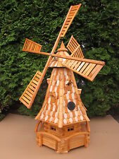 Windmill Garden decor Large High 1.4m with wood shingles  With solar light Nr2