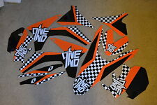 ONE CHECKERS GRAPHICS KTM SX SXF 150 250 350 450 2011  2012 & 2012 13 EXC XCW