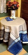 French JACQUARD TABLECLOTH Woven ROSA 60x60 Fall Colors PROVENCE Teflon Coated B