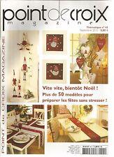 POINT DE CROIX MAGAZINE N°45 NOEL : + DE 50 MODELES POUR PREPARER LES FETES