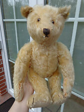 Vintage blond German Steiff teddy bear button underscored f c1920/1930's bear