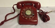 Bell System/Western Electric Vintage Red Rotary Mid Century Phone