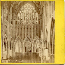 G W WILSON SCOTLAND STEREOVIEW WELLS CATHEDRAL CHOIR LOOKING EAST ENGLAND