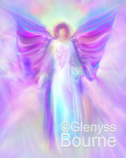 ARCHANGEL RAPHAEL Spiritual Angel Painting Angel Art by Glenyss Bourne - Canvas