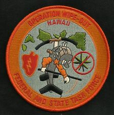 OPERATION WIPE-OUT FEDERAL AND STATE TASK FORCE HAWAII POLICE PATCH