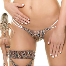 SEXY GOGO MINISLIP TANGA STRING WET SNAKE MADE IN EU